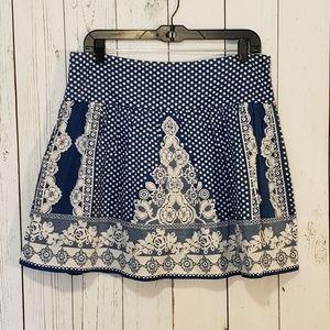UO Kimchi Blue Polka Dot Floral Skirt Size 8